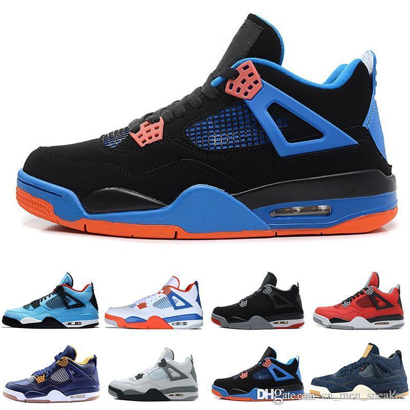 4 4s Zapatos Negro Cactus Jack gato de baloncesto del Mens Raptors tatuaje Denim Eminem Pure Green Money Glow hombres deportivos zapatillas de deporte los diseñadores