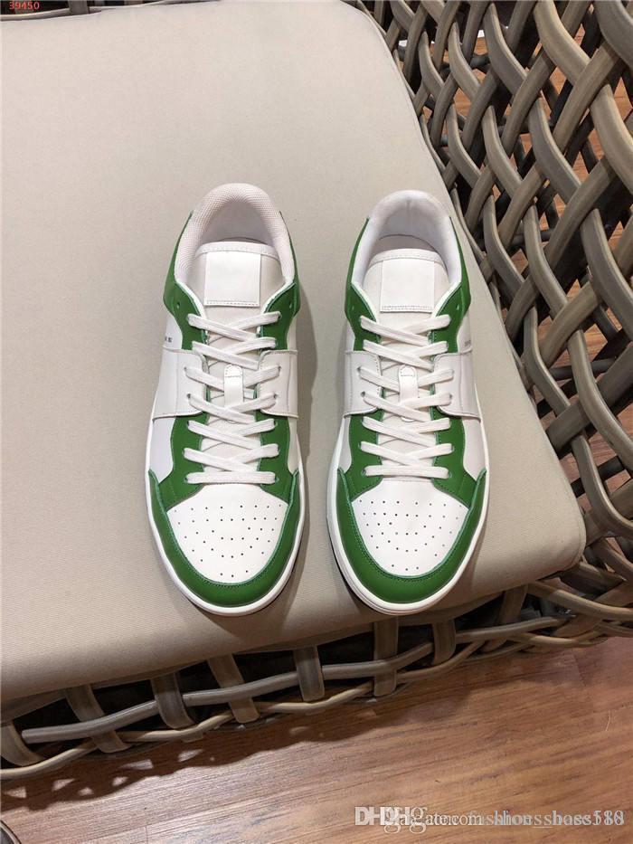 Mens impressão ocasional clássico moderno com laço de correspondência de cores e baixo topo plano curso desgaste fundo sapatos de corrida casual com embalagem original
