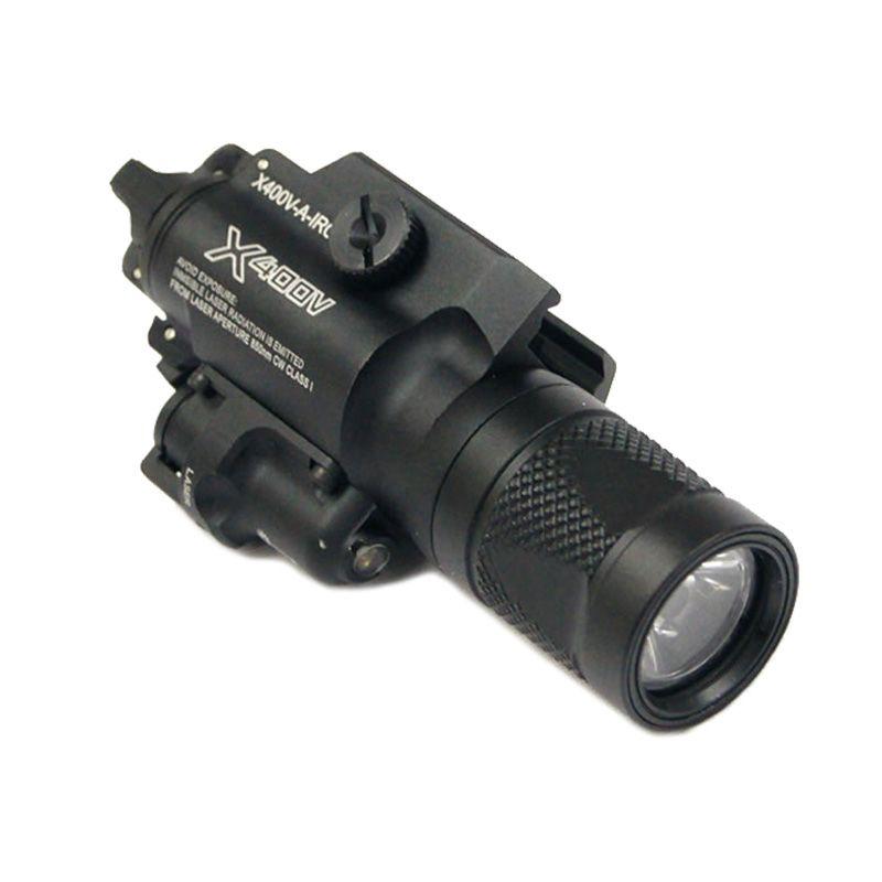 التكتيكية cnc جعل SF X400V أدى بندقية ضوء الصيد x400 بندقية مسدس الضوء الأبيض مع الليزر الأحمر