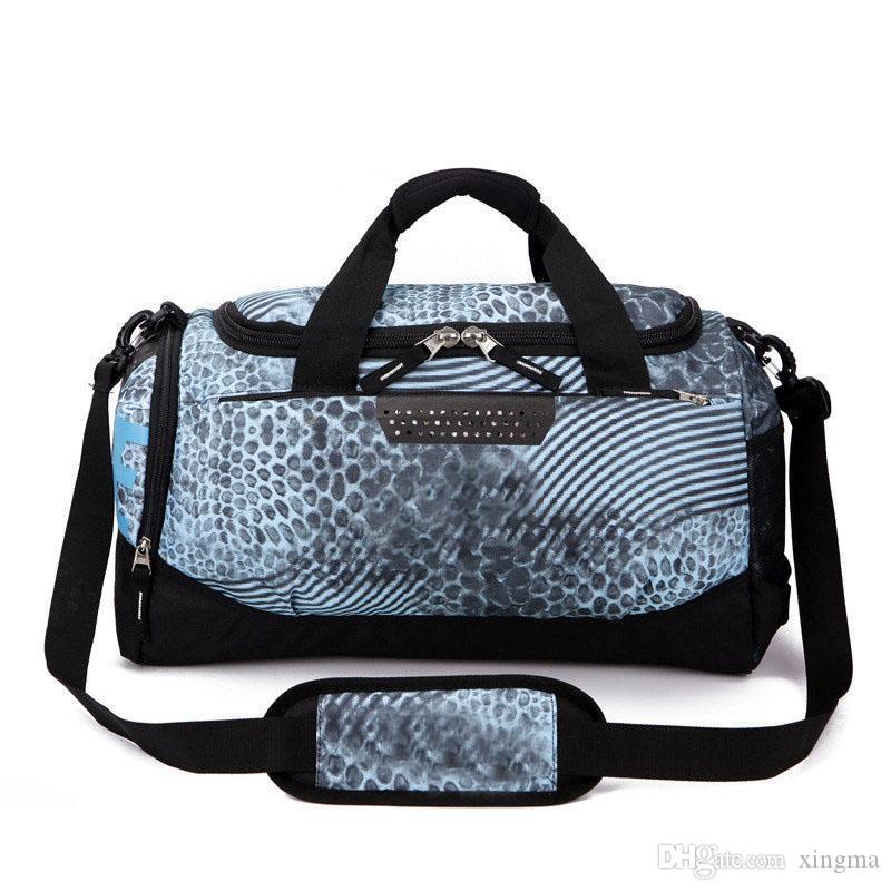 7 Farben-Marken-Entwerfer-Düffel-Beutel-Frauen-Mann-Hand großer Kapazitäts Spielraumduffle Bag Plain Gestreifte Wasserdichtes Sporttasche Schultertasche