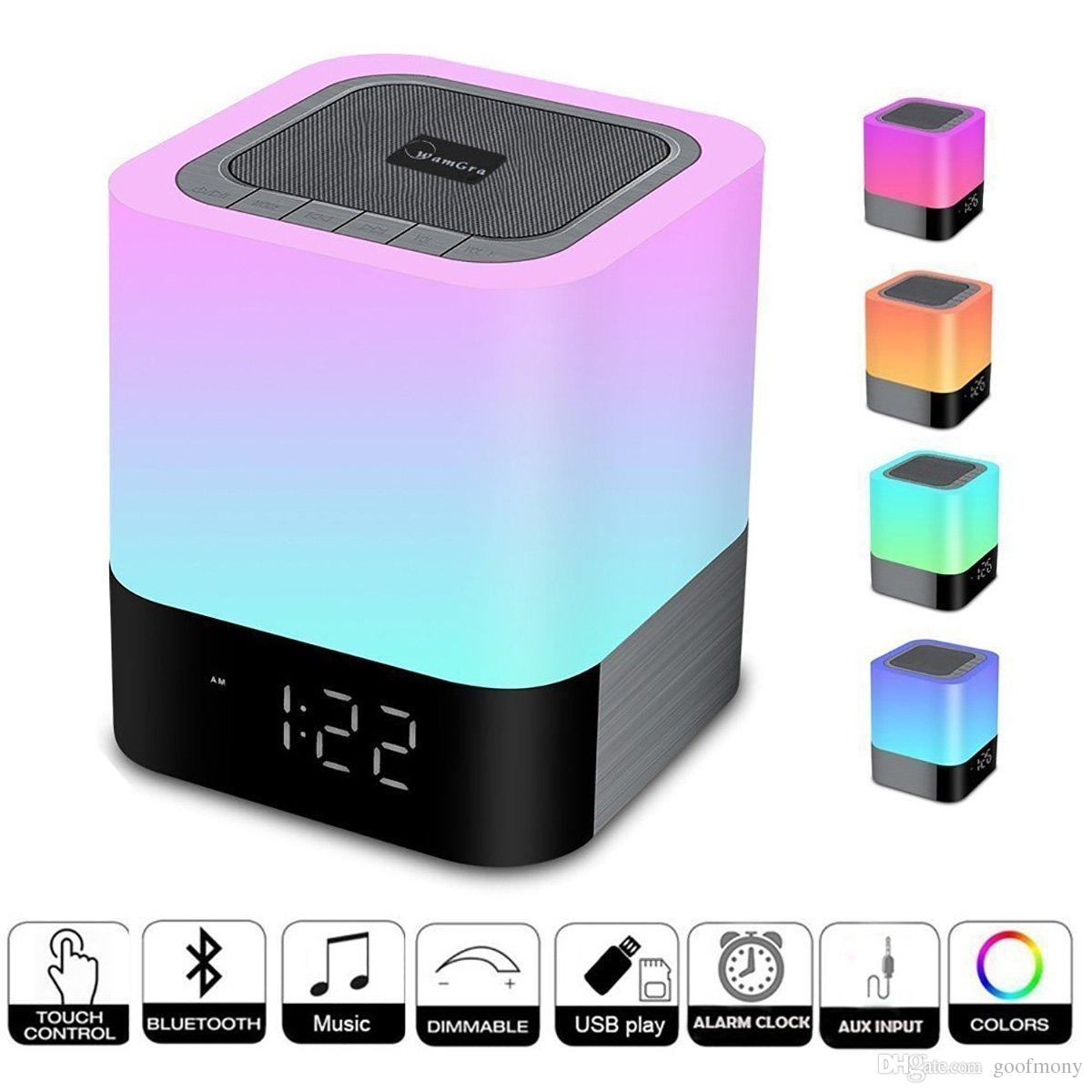 Night lights Bluetooth Speaker,Touch Sensor Bedside Lamp Dimmable Warm Light,Color Changing Bedside Lamp,MP3 Music Player,Wireless Speaker w