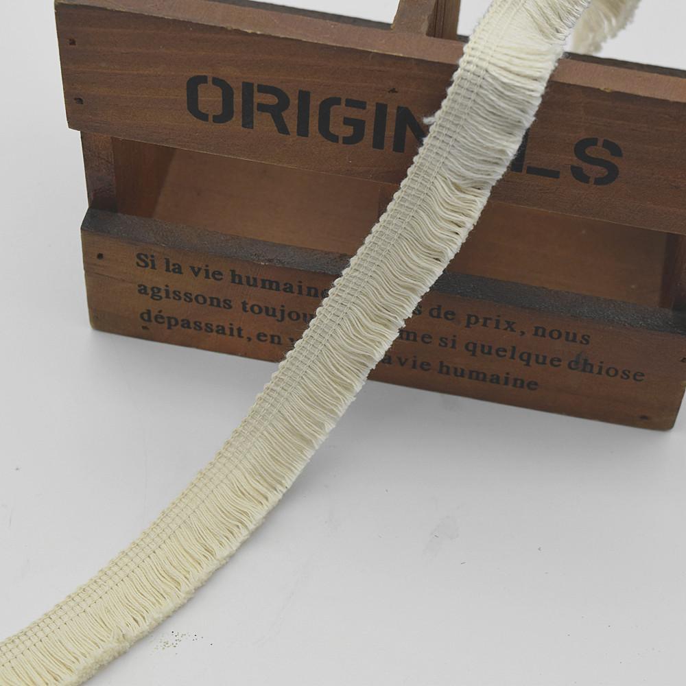 venda quente TRIMMINGS Tassel Cotton Fringe Creme Marfim ampla: 2cm de roupas diy sew ofício