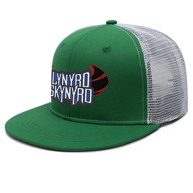 Lynyrd Skynyrd Logo de baseball Unisexe Capuchon de camionneur à plateau plat ajusté HIP HOP Baseball Chapeaux Bleu National Flag Eagle Star 1991 2016 Hank KR RLQP