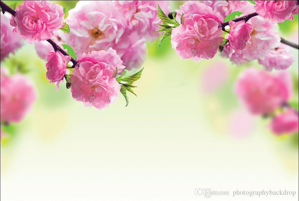 Shengyongbao Vinil Özel Fotoğraf Arka Planında Prop dijital baskılı Yatay Çiçek Kiraz çiçeği tema Fotoğraf Stüdyosu Arka Plan 18418-60