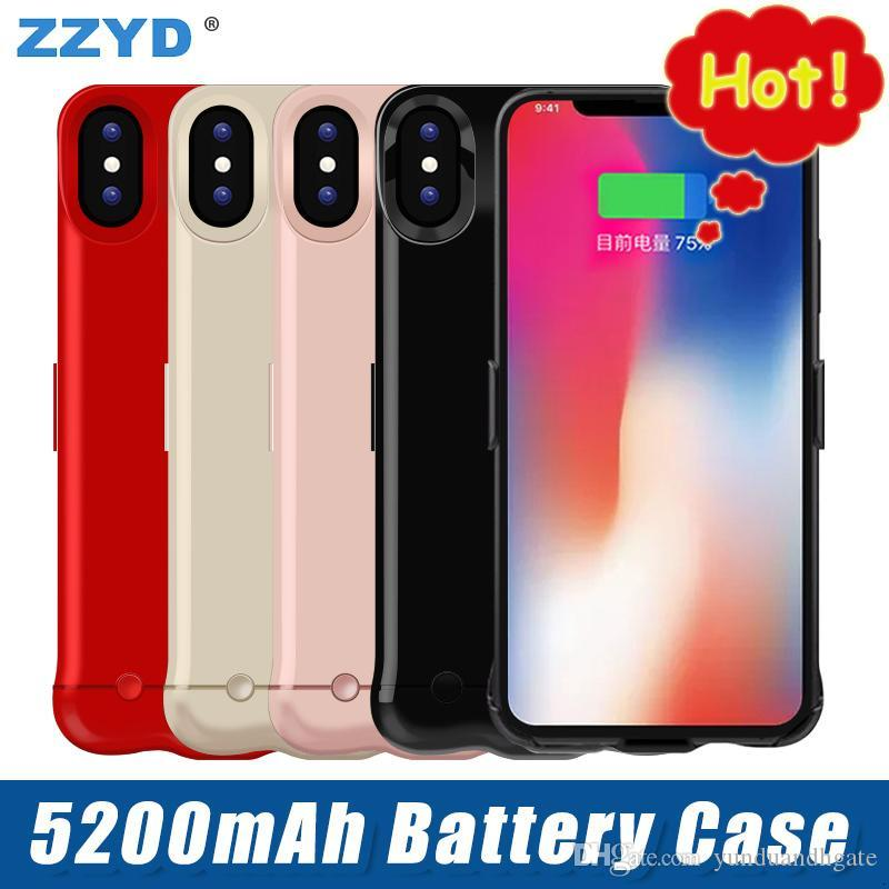 E X Zzyd For Iphone 5200 Mah Battery Case Portable Phone Backup Rechargeable Extended Charger Case With Retail Package