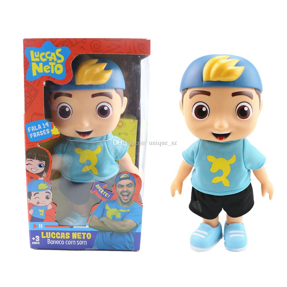 New 25cm Luccas Neto Action Figure 10inch Vinyl Collection Model Talking Toys With 14 kinds Sound frangrance Kids Birthday Christmas Gifts