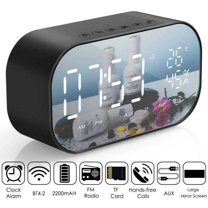Wireless LED Spiegel Bluetooth Wecker Stereo Audio Lautsprecher Rose Gold