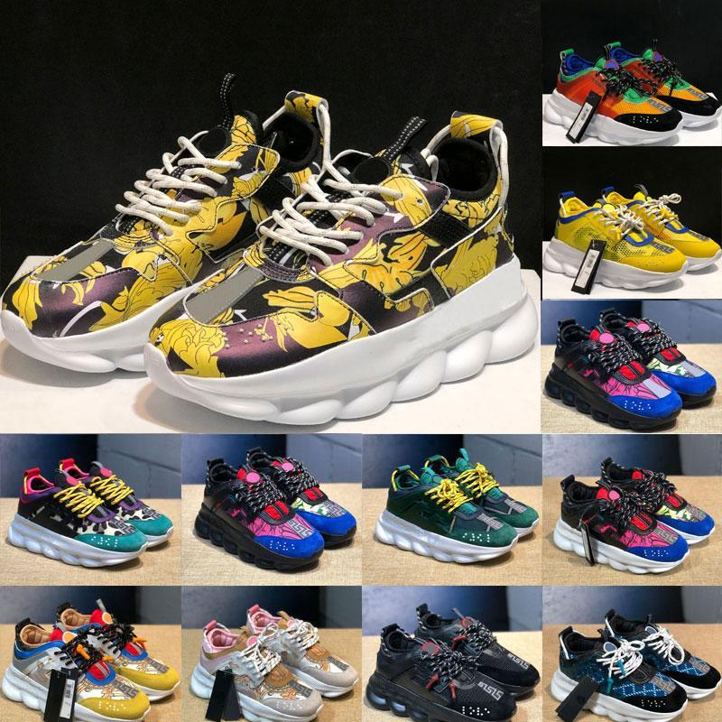 Moda 2020 nuevos llegada de los zapatos para hombre de Versace de las mujeres Zapatos Zapatos deportivos Trainer peso ligero Enlace en relieve al aire libre único Con