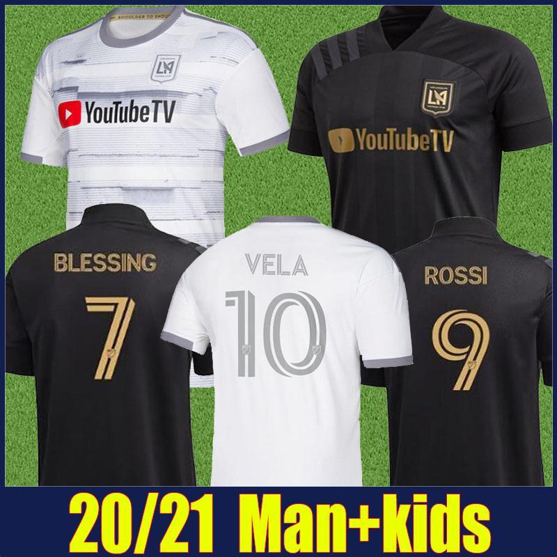 2020 LAFC Fußball Jersey MLS Fußball-Hemd Home Away Kinder-Kit Jugend Los Angeles FC VELA Uniform TOP Qualität Mehr 10pcs Freier DHL
