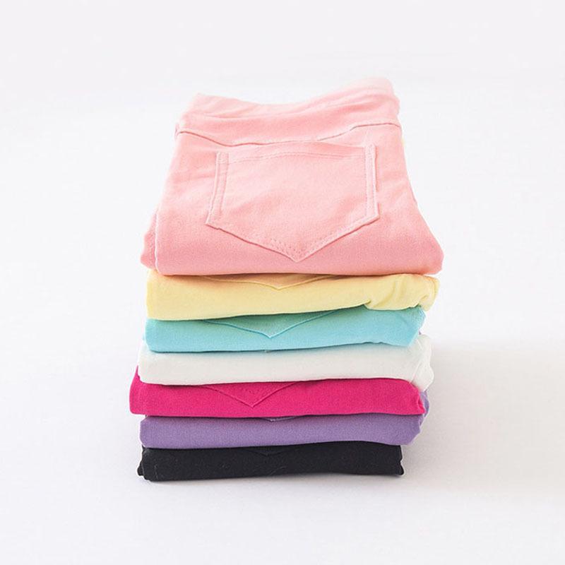 Haute Qualité Printemps Eté Filles Crayon Pantalon De Mode Bonbons Couleur Enfants Pantalon