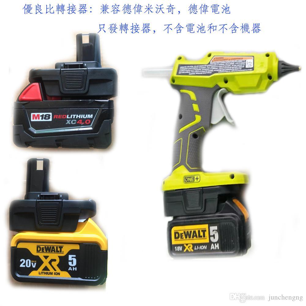 Ryobi Tek + alet kullanımı için marka batarya adaptör dönüştürme