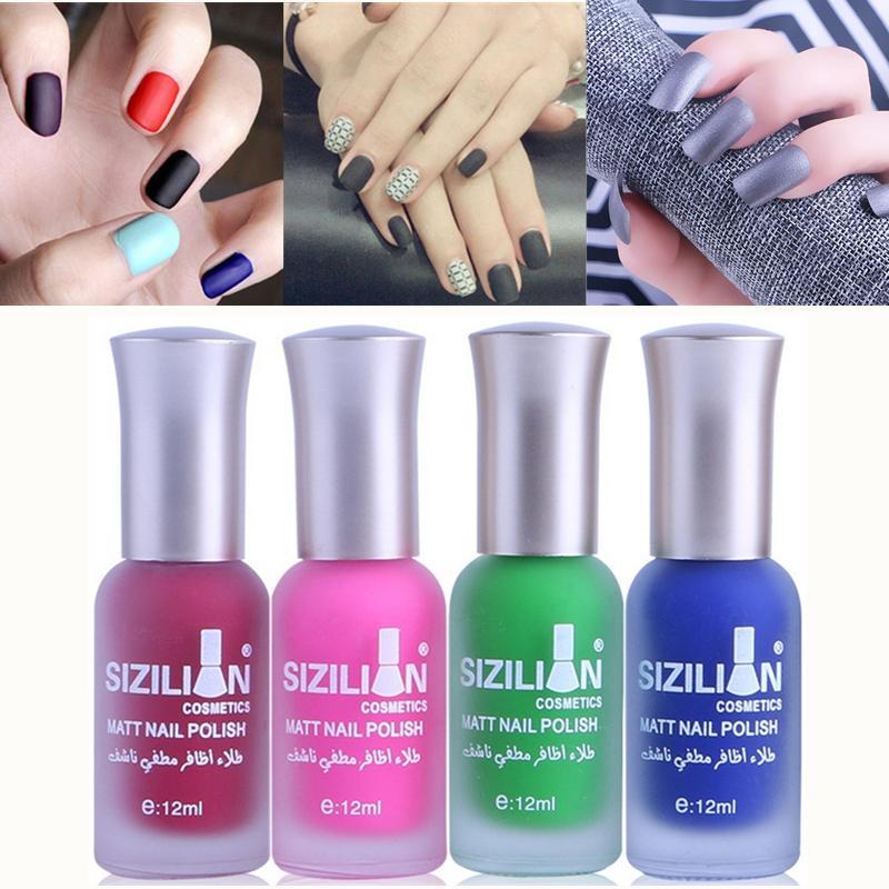 38 colores mate Geles color sólido esmalte de uñas uñas de gel UV Art Long Lasting manicura empapa del barniz 12ml partido de las mujeres de belleza