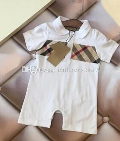 Summer designer label Newborn Infant Kids Baby Girl Boys Romper Age 0-12M Cute Toddler Baby Clothing Short Sleeved Jumpsuit