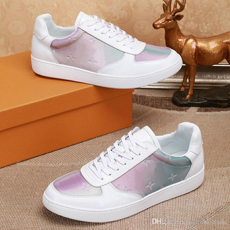 Sneaker di alta qualità per le donne Nuove scarpe da uomo firmate Rivoli bianche Monogram Letter in vera pelle Sneakers colorate Scarpe casual