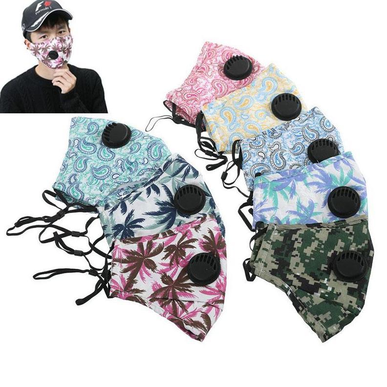 Macio respirável Anti protetora contra poeira PM2.5 máscaras Máscara anti-poeira Earloop com a respiração válvula ajustável reutilizável Boca Máscaras EEA1572