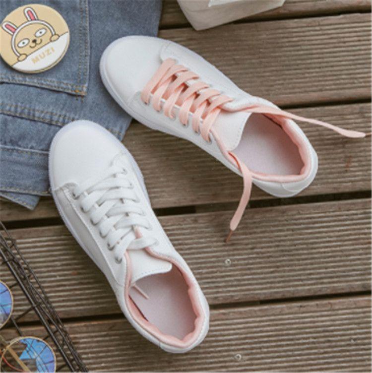 02556 основных маленьких белых туфель женщина корейской версии всех-в-одном студента кроссовок случайной обувь настольной erew