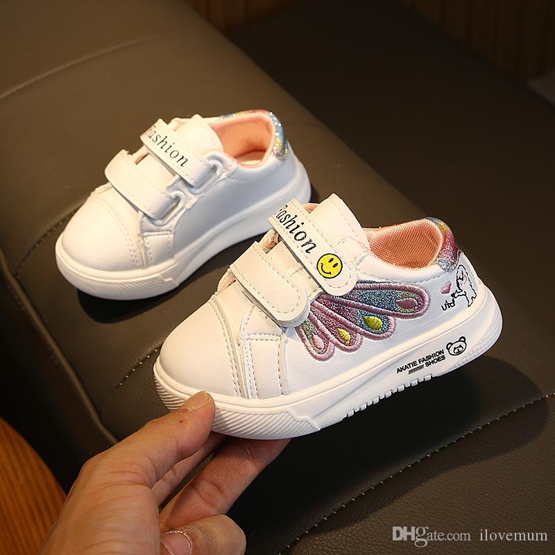 봄 가을 키즈 패션 신발 디자인 슈퍼 스타 유아 이탈리아 자수 아동 스니커즈 소년 소녀 후크 신발 아기 크기 21-25
