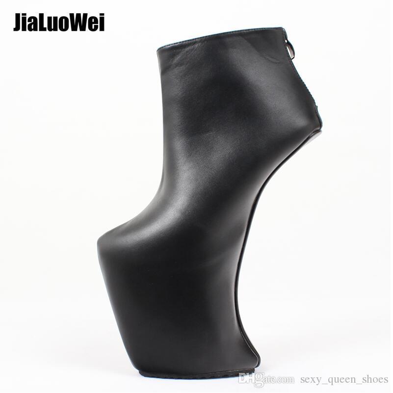 Design 2019 Women's Shoes Ankle Boots High Heels Stars Platform Boots Heelless Pony Man Fetish Dancing Shoe Make Large 46 Fashion 23cm