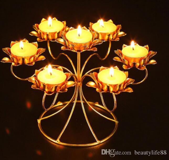 يمكن تجميع حاملي الشموع المصباح المقاوم للصدأ المصنوع من الزبدة المصنوعة من الفولاذ المقاوم للصدأ على 7 شموع من زبدة المصباح يوميًا أو عبادة بوذا