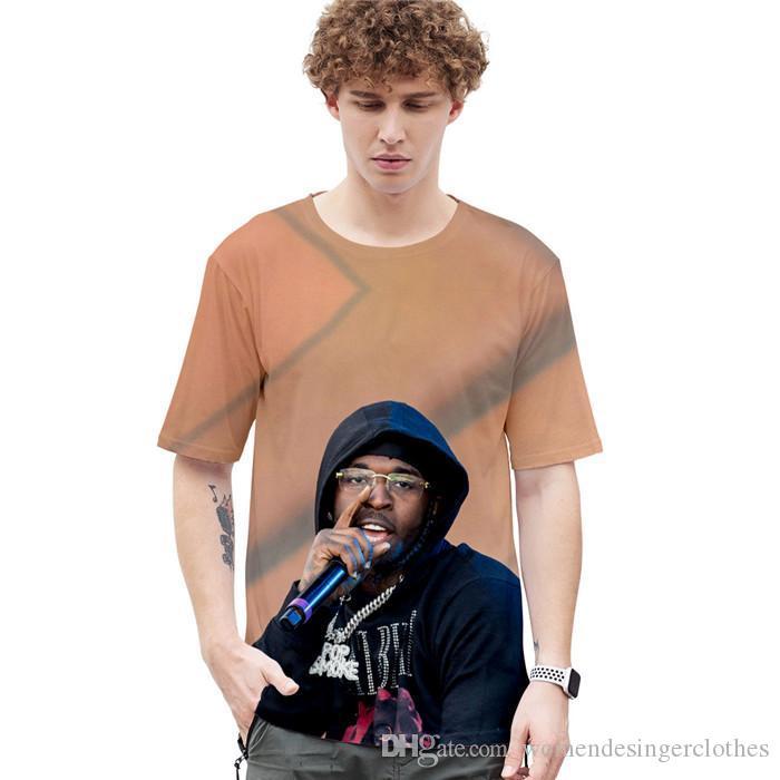 Mens 3D Print Pop camisetas verano diseñador estadounidense Cantante de cuello redondo manga corta estilo de la moda la ropa ocasional