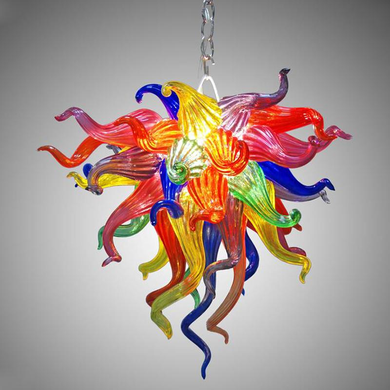 Wonderful Mini Cute LED Blown Glass Small Chandelier Lamp American Colored Glass Crystal Chandelier Free Shipping