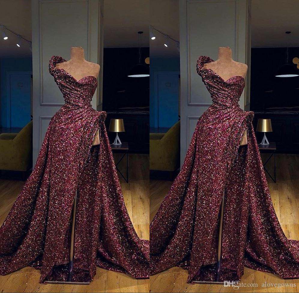 großhandel wunderschöne burgunder meerjungfrau abendkleider abnehmbarer zug  2019 abendkleid formelle abendkleider robe de soiree abendkleider von