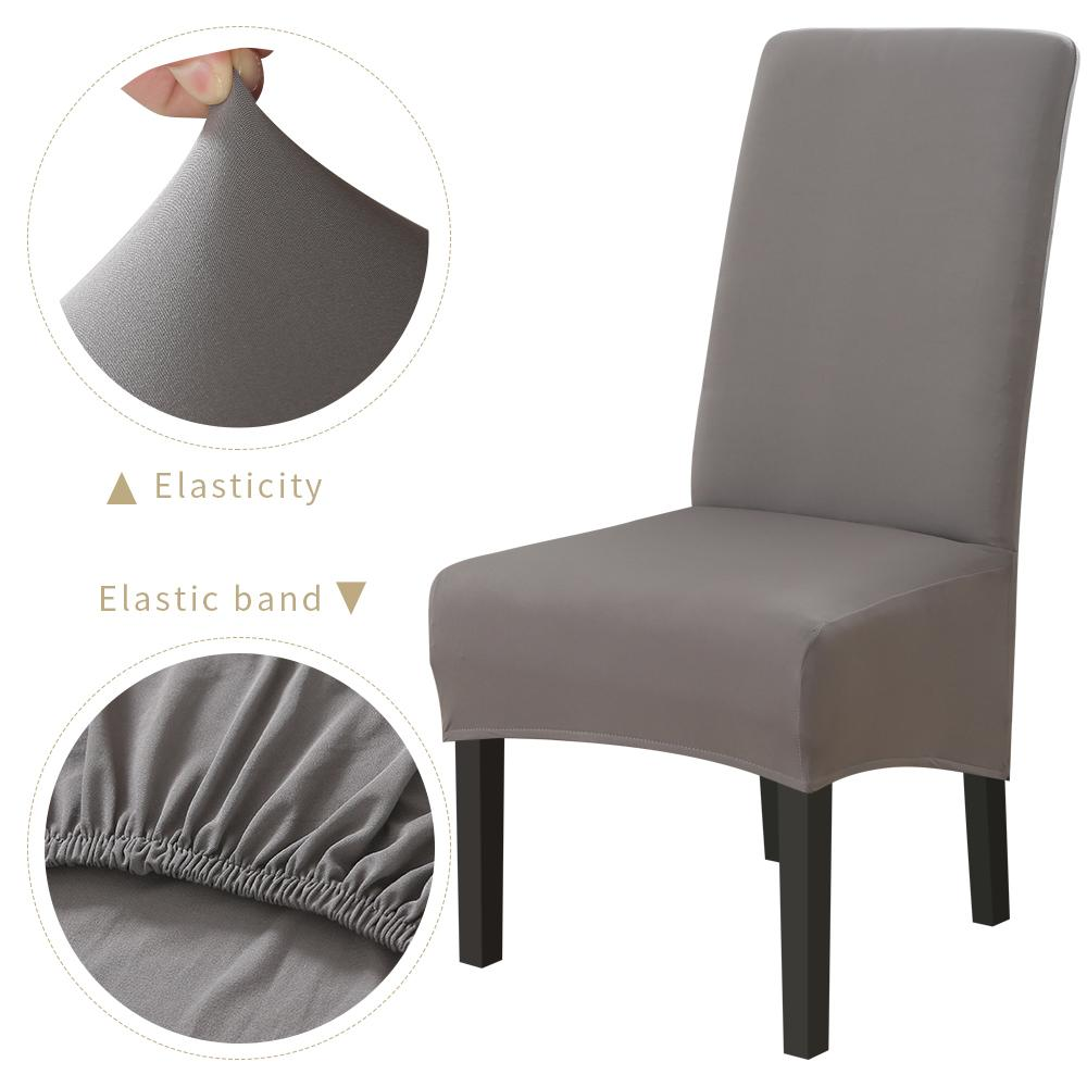 1 / 2pc Sandalye Kapak Spandex Stretch Elastik slipcovers Sandalye Odası Mutfak Düğün Ziyafet Otel Yemek İçin Beyaz Kapaklar