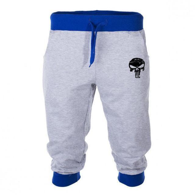 Punisher pantaloncini da corsa stampa del cranio 3/4 pantaloni degli uomini di lunghezza del ginocchio pantaloncini uomini Pantaloni Pantaloni sportivi uomini Bermuda stampato