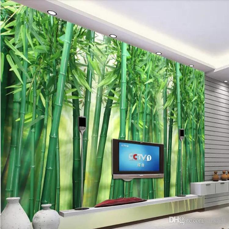 Гостиная ТВ фон стены 3D трехмерные бамбуковые фрески Пейзаж декорации обои Спальня бамбуковые обои аркади