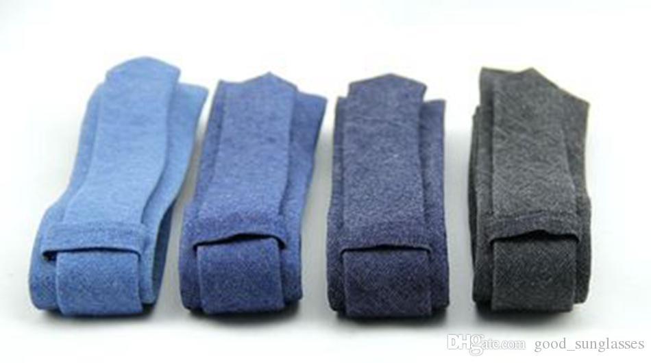 Cravate de mode pour hommes 6cm Largeur Largeur Coche Cowboy Style Jeans Couleur Solid Coton Coton Business Shirt Accessoires pour hommes Ljjj36