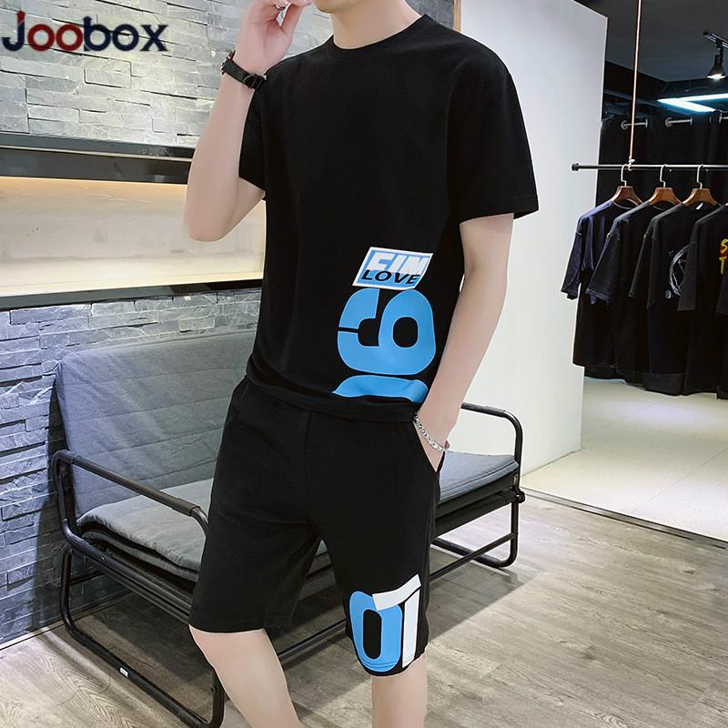 Summer Tracksuit Man Youth Fashion Casual Print O-neck Suits Men Jogging Sports Sets Men's Sweat Suit Street Clothes 4XL 2020