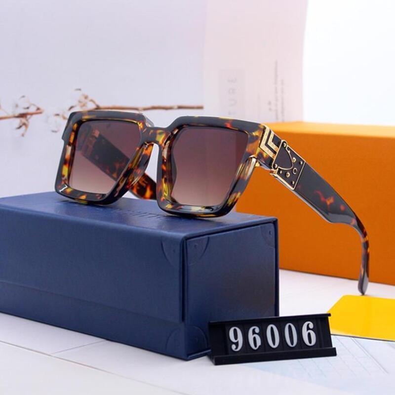 Модные очки новые популярные высококачественные классические горячие продажи летние солнцезащитные очки дизайнерский бренд движение досуг женские солнцезащитные очки без коробки