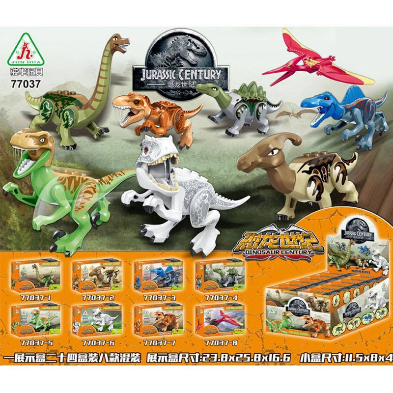 8 قطعة / الوحدة العالم الجوراسي الجوراسي ديناصور الشكل مجموعة للأطفال الحيوان اللبنات مجموعات لعب للأطفال Y190606