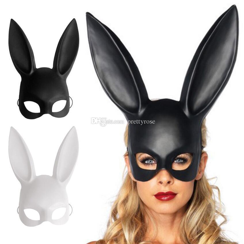 شريط الأرنب النساء فتاة الأرنب مثير الآذان قناع لطيف الأرنب طويل الآذان عبودية قناع هالوين تنكر حزب تأثيري الدعائم شحن مجاني