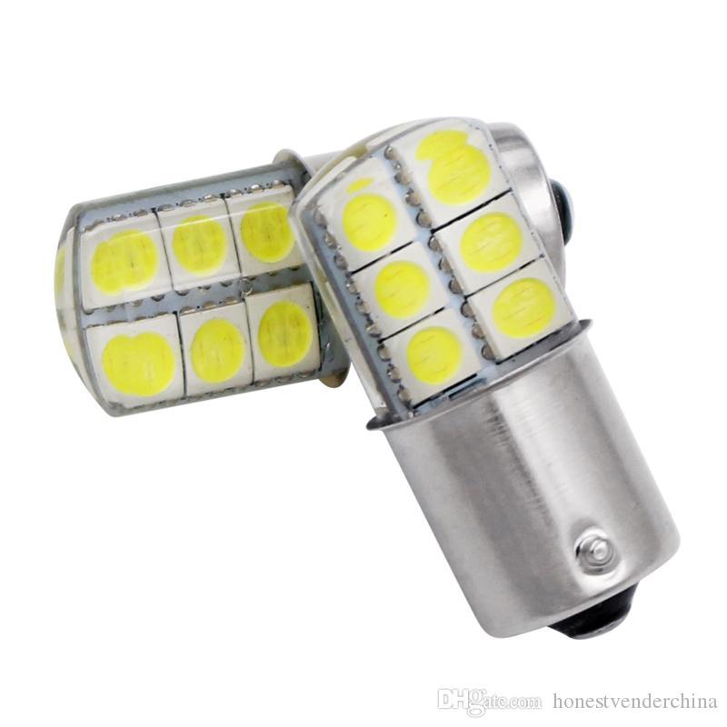 10pcs 자동차 led 브레이크 라이트 높은 전원 깜박이 하이라이트 자동 램프 buld BA15S 1156 BA15D 12smd 흰색 노란색 빨간색 자동차 빛