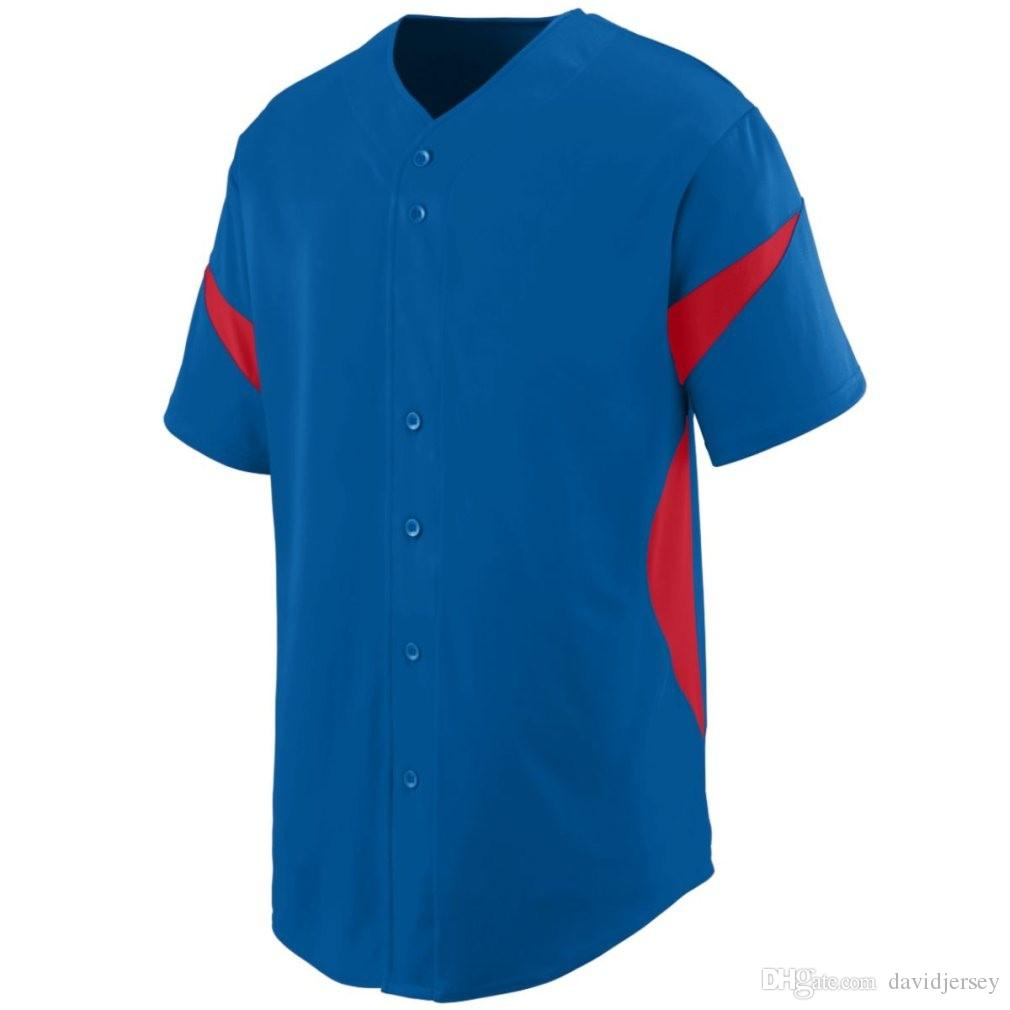 2019 Camo Özel Renk Yeni Erkekler Beyzbol Forması Genç Basit Düzgün Formalar Kimlik 000126 Ucuz