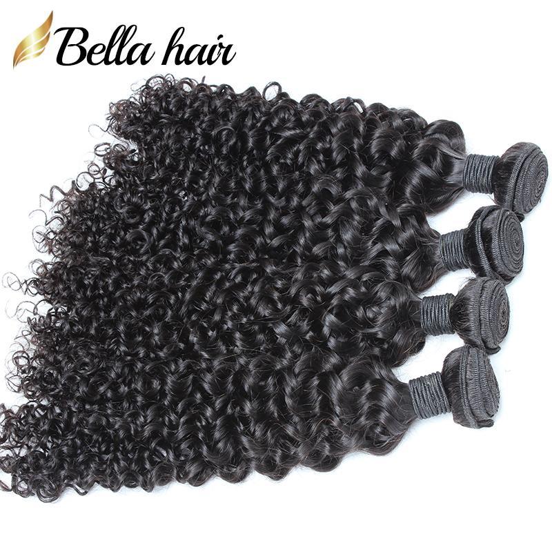 """Mongolische haar bündel lockig weben haare webt 3 stücke 100% jungfrau menschliche haare verlängerung fefts 8 """"-30"""" natürliche farbe bellahair"""
