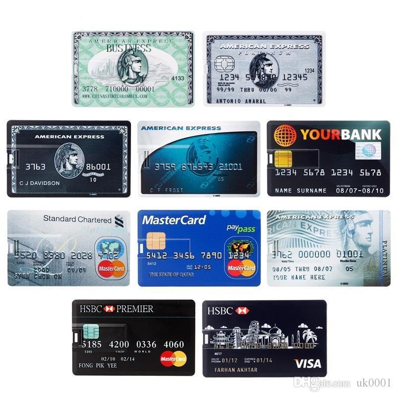 pendrive 4GB 8GB 16GB 32GB 64GB key Waterproof flash memory Super Slim usb stick Bank Credit Card flash disk custom logo uk0001