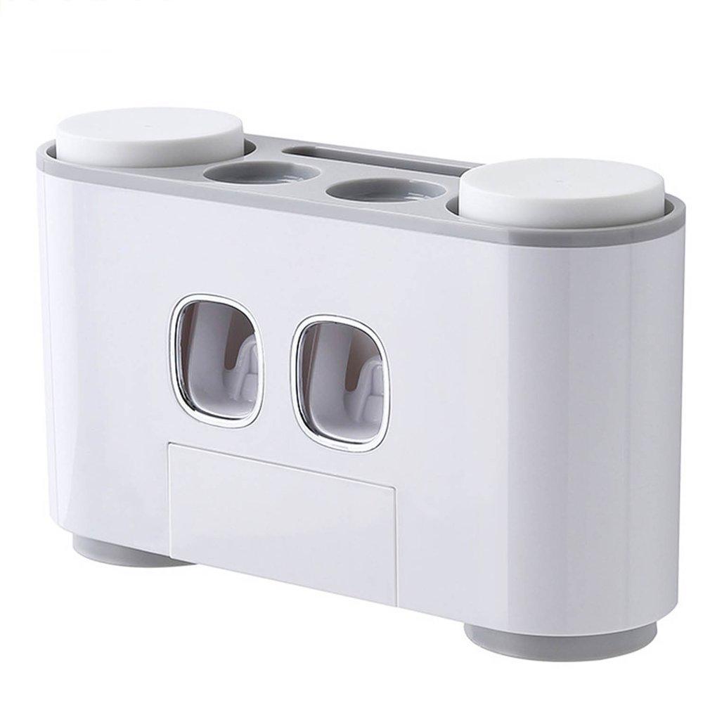 욕실 치약 디스펜서 칫솔 홀더 컵 벽걸이 세탁기 세트 크리에이티브 자동 치약 압착기