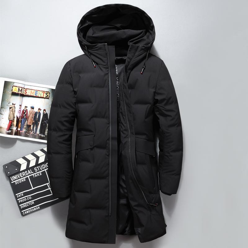 2019 Winter Down Jacket Men Coat Hooded Long White Duck Down Parka Thickening Warm Outwear Wellensteyn Men Winter Jacket