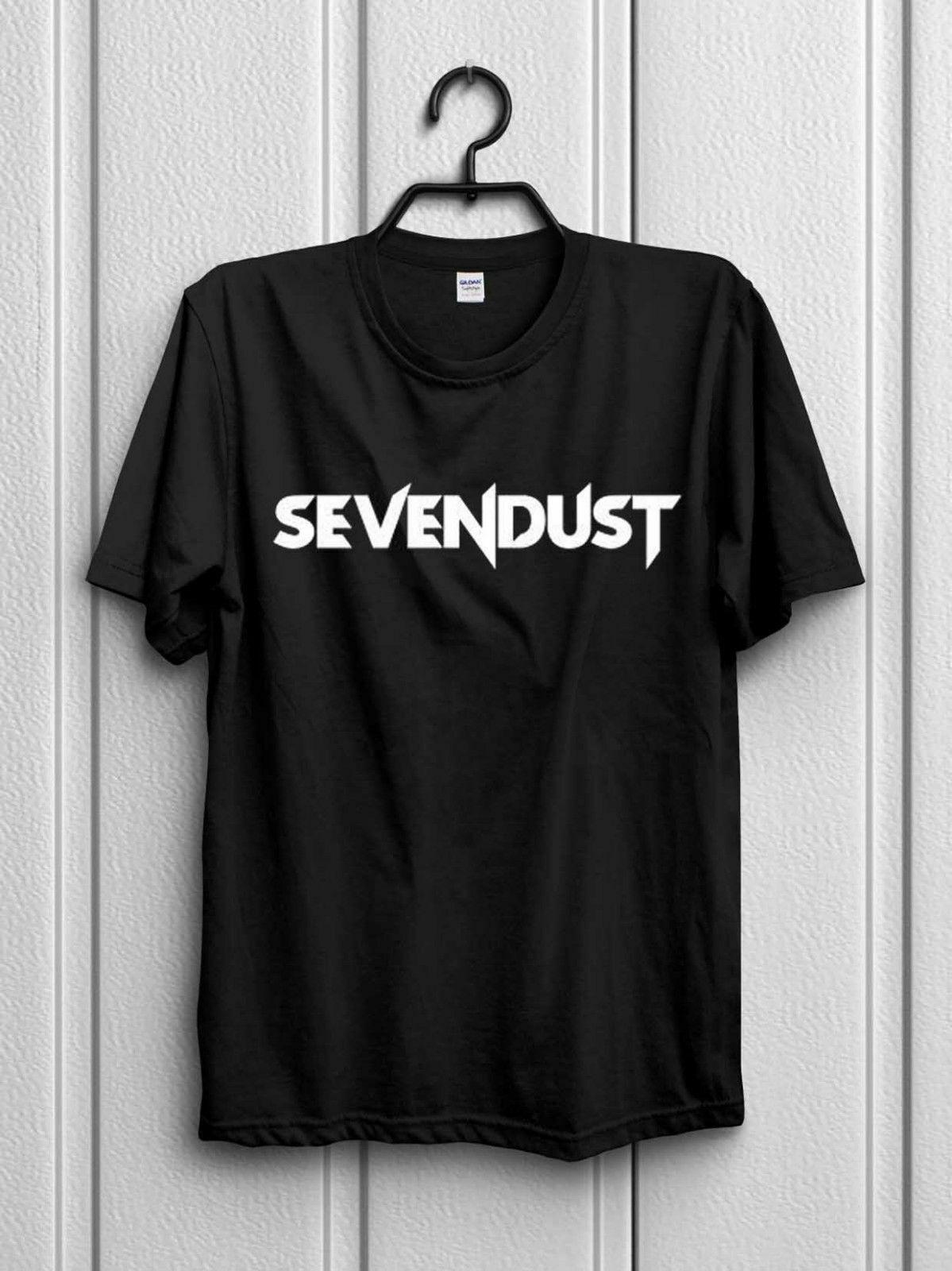 SEVENDUST LOGO Tshirt Black New Men/'s T-Shirt Size S to 3XL
