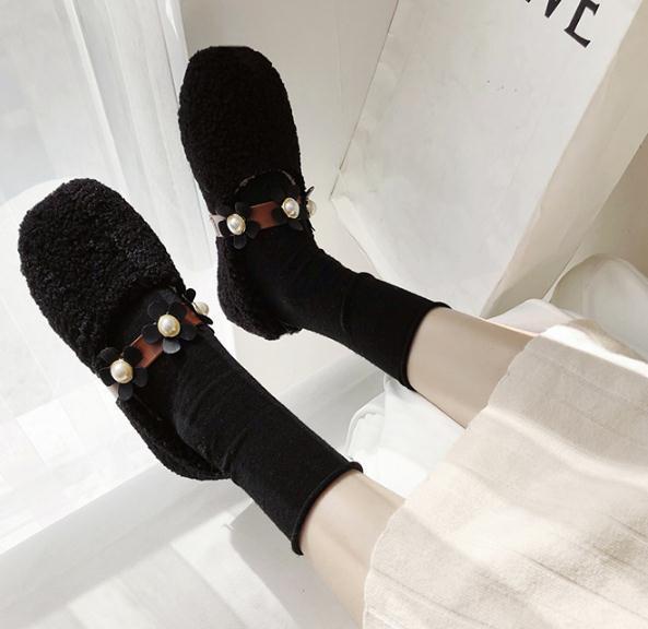 shoe capelli autunno inverno 2019 donna nuovo stile web Celebrity 100 introito di fagioli scarpa brezza della sera scarpa fagioli fata