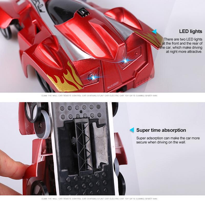 RC parede de escalada Mini Toy Car miúdos modelo Bricks Rádio carro elétrico sem fio Remote crianças Jogando Controle da Corrida Brinquedos