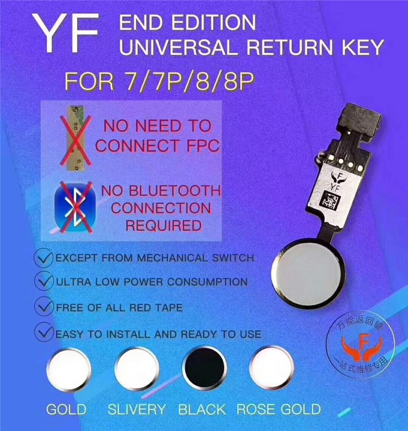 العلامة التجارية الاصلية YF العالمي زر البداية العودة مفتاح الكابلات المرنة لفون 7 8 زائد القائمة لوحة المفاتيح العائد على معطلة FUCTION الحل لا ID تاتش