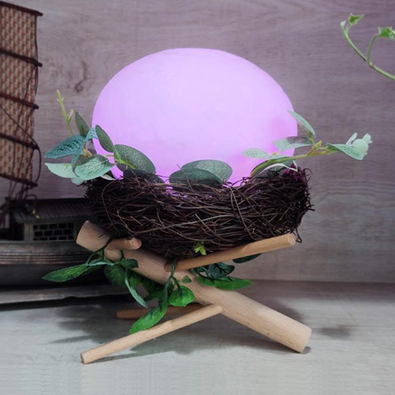 빛 10051을 자고 다채로운 LED 다채로운 새의 둥지 팻 밤 빛 USB 침실 분위기