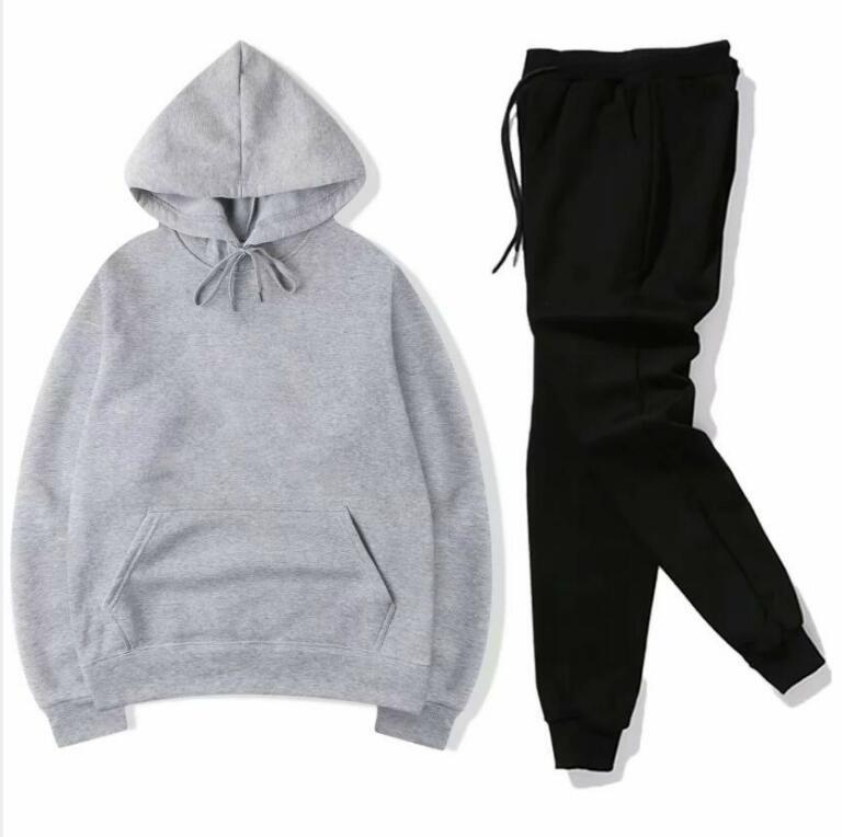 Venda quente O vendedor paga ativos fixos treino ternos camisola Hoodies + Pant Sport Track 2 Pieces corrida conjuntos survêtement roupas femme