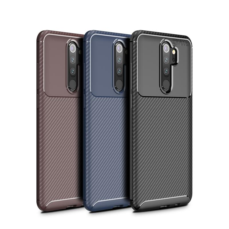 TPU чехол для телефона из углеродного волокна противоударный чехол для телефона матовый лаконичный мобильный телефон защитная задняя крышка для Redmi Note 8 Pro