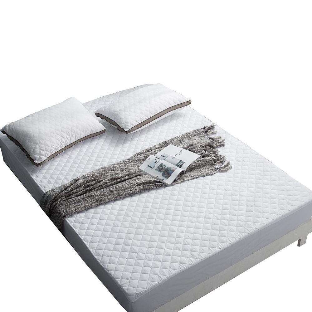 Hotel gruesa acolchada con puntadas lijado fino paño de guata de hojas de cama ultrasónico acolchar Cubierta de protección del colchón