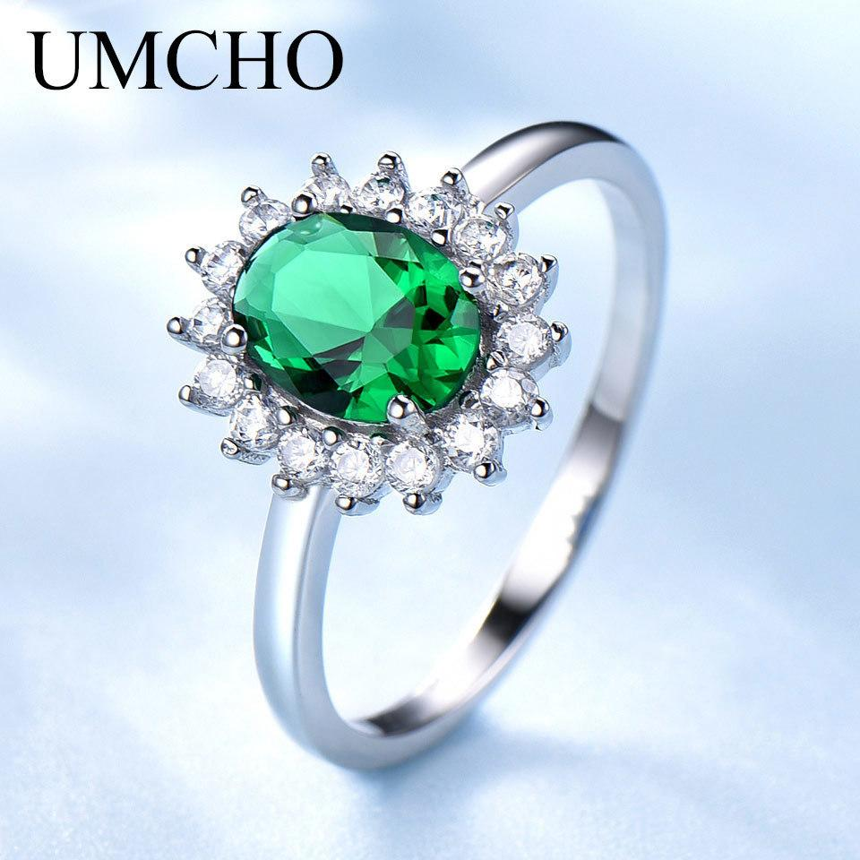 USA Seller Infinity Ring Sterling Silver 925 Best Price Jewelry Gift Emerald
