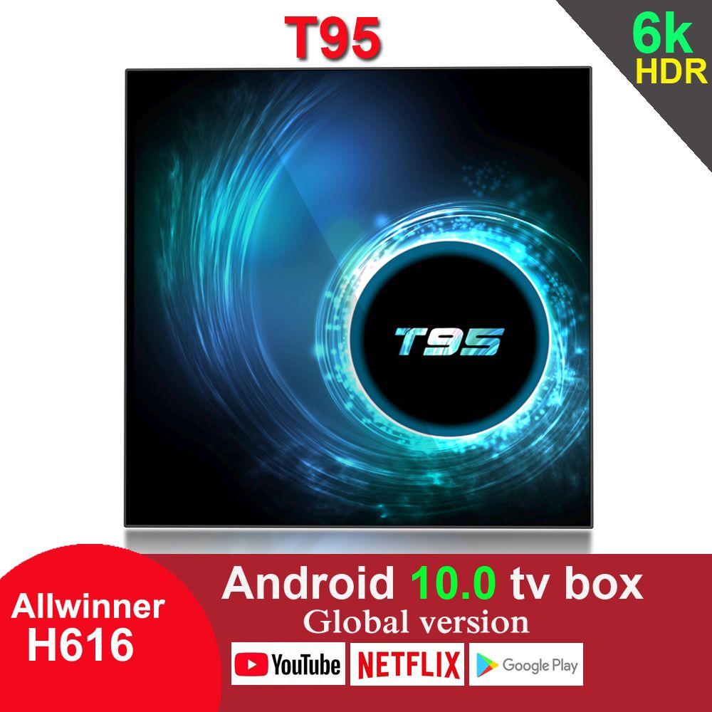 T95 Android 10.0 TV Box Allwinner H616 4GB 32GB 2.4G Wifi HDR Google Play 6K 2GB 16GB Set Top Box